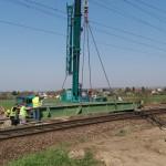 Látványos szakaszához érkezett Érden a vasútépítés